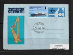 SAINT-HELENA - Aerogramme - Used - To Scottsdale USA - Cancelled Jamestown 7 MAY 2004  Boat Stamp Tristan Da Cunha - Isla Sta Helena