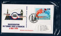 FR 1994 Pochette Souvenir :  Inauguration Du Tunnel Sous La Manche - Souvenir Blocks & Sheetlets