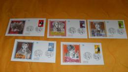 LOT 5 ENVELOPPES FDC DE 1996../ LES HEROS FRANCAIS DU ROMAN POLICIER..ARSENE LUPIN, NESTOR BURMA..CACHETS PARIS + TIMBRE - 1990-1999