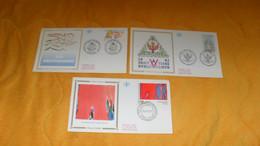 LOT 3 ENVELOPPES FDC DIVERS DE 1993../ OLIVIER DEBRE, JEUX MEDITERRANEENS AGDE LANGUEDOC..LE DROIT HUMAIN...CACHETS + TI - 1990-1999