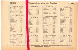 Orig. Knipsel Coupure Tijdschrift Magazine - Dienstregeling Trein Floraliën Gent - Brussel - 1928 - Europe