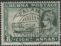 Burma. 1938-40 KGVI. 8a Used. SG 29 - Burma (...-1947)
