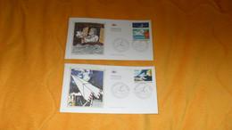 LOT 2 ENVELOPPES FDC DE 1998./ LA LETTRE AU FIL DES ANS....CACHETS LES JOURNEES DE LA LETTRE PARIS...+ TIMBRE - 1990-1999