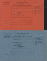 2 CP Bulletins De Santé D'un Militaire En Traitement Ministère De La Guerre Guerre 14 Correspondance Militaire Franchise - Cartes De Franchise Militaire