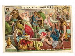 CHROMO GAUFFRE CHOCOLAT POULAIN  HISTOIRE ROMAINE 6ème Série-N° 9  - Pillage De Rome.. - Poulain