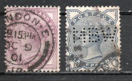 GRANDE BRETAGNE ; 1881-84 ; Y&T N° 73-76 ; Oblitéré - Usados