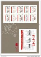 Collector Autocollant Le Carré D'encre 12/12/12  2012 Neuf ** Rare, Série Limitée - Collectors