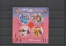 India MNH 2019 Salut To Covid 19 Warriors Miniature Sheet  / MS*** - Unused Stamps