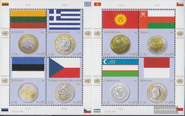 UN - Vienna 691-698 Sheetlet (complete Issue) Unmounted Mint / Never Hinged 2011 Flags And Coins - Nuevos