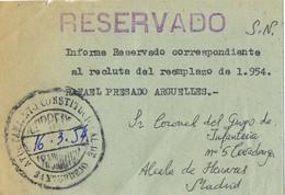 39724. Carta Franquicia S.N. SANTURDEJO (Logroño) 1954. Lineal RESERVADO - 1951-60 Cartas