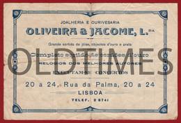 """PORTUGAL - LISBOA - FACTURA - JOALHARIA E OURIVESARIA """" OLIVEIRA & JACOME LDA - INVOICE 1940 - Portugal"""