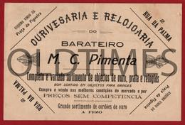 """PORTUGAL - LISBOA - FACTURA - OURIVESARIA E RELOJOARIA """" M. C. PIMENTA """" - INVOICE 1910 - Portugal"""