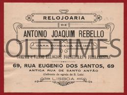 """PORTUGAL - LISBOA - FACTURA - RELOJOARIA """" ANTONIO JOAQUIM REBELLO """" - INVOICE 1900 - Portugal"""