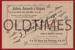 """PORTUGAL - LISBOA - FACTURA - JOALHARIA OURIVESARIA E RELOJOARIA """" J. PAIVA & A. FRAGA """" - 1918 INVOICE - Portugal"""
