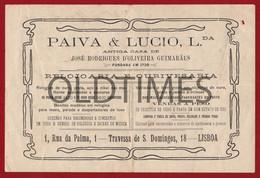 "PORTUGAL - LISBOA - FACTURA - OURIVESARIA E RELOJOARIA "" PAIVA & LUCIO LDA "" - 1918 INVOICE - Portugal"