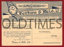 "PORTUGAL - LISBOA - MATA-BORRÃO - JOALHARIA E RELOJOARIA "" VENTURA & MELLO LDA "" - 1930 BLOTTER - Portugal"