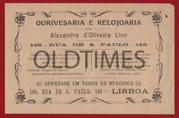 "PORTUGAL - LISBOA - FACTURA - OURIVESARIA E RELOJOARIA "" ALEXANDRE D'OLIVEIRA LINO "" - 1900 INVOICE - Portugal"