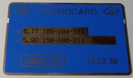 MALAYSIA - L&G - Landis & Gyr - TEST - Printed Oct 92 - Blue - 10 Struc - 100ex - R - Maleisië