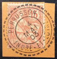 125 ° 7 Indre Et Loire Tireté Mouchon 15c Vermillon 4/5/1903 Oblitéré - 1877-1920: Semi-Moderne