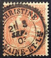 125 ° 8 Maine Et Lre Ste Christine Mouchon 15c Vermillon 3/9/1903 Oblitéré - 1877-1920: Semi-Moderne
