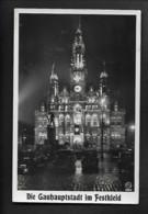 DR Ak Reichenberg Sudeten / Hakenkreuz-Festbeleuchtung - Oorlog 1939-45