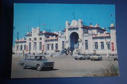 KAZAKHSTAN. Kzyl Orda.  Railway Station  -  - LA GARE - BAHNHOF  - OLD PC 1976 Stationery - Taxi Car - Kazakhstan