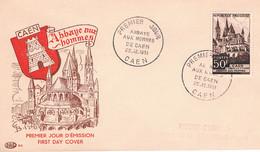 FRANCE F.D.C  N° 917.P.J Abbaye Des Hommes. 22.12.1951. Caen - 1950-1959