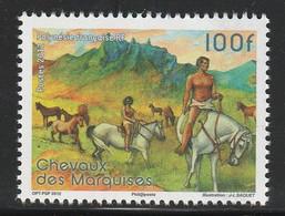 POLYNESIE - N°1008 ** (2012) Chevaux - Ongebruikt