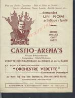 MUSIQUE AFFICHE MUSICALE ILLUSTRÉE DE CASTIO ARENA,S ARCCORDÉONISTE PARIS 8 RUE FRÉDÉRIC SAUTON : - Affiches