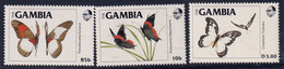 GAMBIE - Faune, Papillons - Y&T N° 537-540 - MNH - Gambia (1965-...)