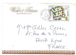 LETTRE DE  MATA - UTU .WALLIS ET FUTUNA. POUR LA FRANCE LYON ...1992. N°414. TBE SCAN - Covers & Documents