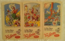 Lot De 3 Buvard PUB Pain D'épices Des Gourmands VAN LYNDEN ILLUSTRATEUR HISTOIRE JEANNE D'ARC JEAN BART JEANNE HACHETTE - Gingerbread