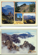 Canaries - La Palma - Lot 9 Cartes Caldera De Taburiente - Neuves, écrites Et/ou Timbrées - La Palma