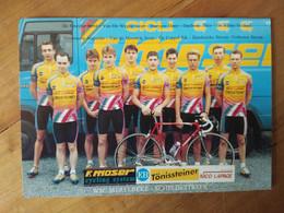 Cyclisme - Carte Publicitaire TÖNISSTEINER LAPAGE : Le Groupe - Cycling