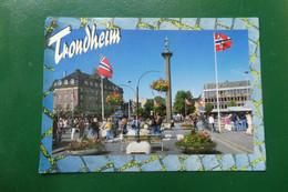 C13/ TRONDHEIM  NORVEGE   DIMENSION CARTE 17X 12 TIMBREE - Norvège
