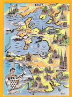 Bretagne Cornouaille Occidentale   Coll  Les Provinces Françaises  Edt  Artaud   N°  6 - Maps