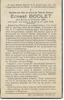 SOUVENIR MORTUAIRE - ERNEST BODLET - RULLES 1896 - ARLON 1944 - GUERRE 40-45 - WWII - Obituary Notices