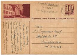 """164 - 90 - Entier Postal Avec Illustration """"Mendrisio"""" Oblit Mécanique 1943 - Entiers Postaux"""