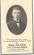 SOUVENIR MORTUAIRE - EMILE NAVEZ époux RENELDE PIREAU - SIVRY (RANCE) 1907 / 1948 - Obituary Notices