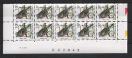 614 * BUZIN PRE Datumstrook * Nr 834 P6 * 9-10-90 * Postfris Xx - 1985-.. Pájaros (Buzin)