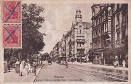 ÉCRIT EN ESPÉRANTO. ALLEMAGNE, BRESLAU. KAISER WILHELM-STRAßE, ECKE VIKTORIASTRAßE. CARTE POSTALE, CIRCULEE 1920.- LILHU - Esperanto