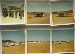 Photox14 OOSTAKKER Bij Gent Vliegveld Militaire Force Aérienne Planneur Glider Circa 1970 Luchtmacht Avion Vliegtuig - Aviazione