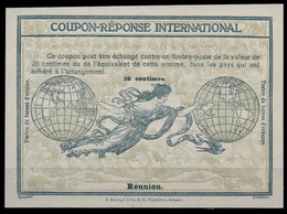 REUNION Rome Type Ro4a International Reply Coupon Reponse Respuesta Antwortschein IRC IAS Mint **  High Oval Watermark - Cartas
