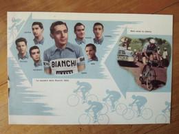 Cyclisme - Carte Hommage Fausto COPPI Et L'équipe BIANCHI 1952 - Cycling