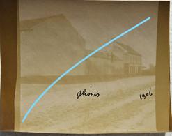 Photo GLIMES 1906 Région Incourt Opprebais Jodoigne Jauchelette Wastines Huppaye Jodoigne Brabant Wallon - Lieux