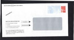 France , Entier Enveloppe Luquet à Fenêtre Gris Clair , Neuve , Pattes Collées , Ouverte Sur Le Côté , Non Voyagée . - Prêts-à-poster:Stamped On Demand & Semi-official Overprinting (1995-...)