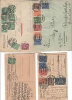 Deutschland , Inflation , 8 Belege - Lettres & Documents