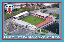 CARTE DE STADE . LUGO  ESPAGNE  ANXO CARRO  ESTADIO   # CS. 373 - Calcio