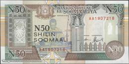TWN - SOMALIA R2a - 50 N-Shilin Soomaal 1991 Prefix AA UNC - Somalia
