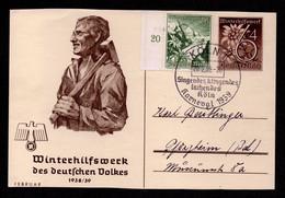 DR Sonder-Postkarte KÖLN - Pforzheim - 20.2.39 - P274-05 + Zusatz Mi.678 Singendes, Klingendes Lachendes Köln - Karneval - Covers & Documents